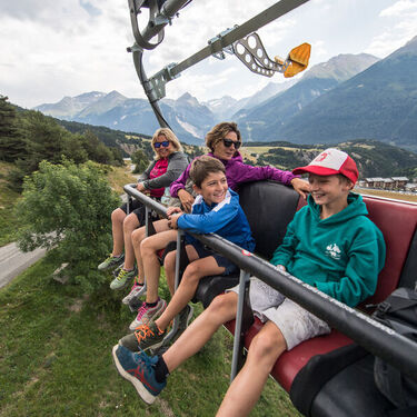 Grand Jeu chairlift in Summer