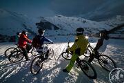Mountain bike on snow