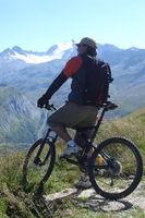 Mountain bike slope descent