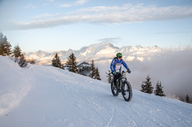 Electric fatbike on snow