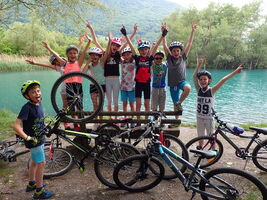Accompanied  moutain bike outings special for families