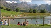 Plan d'eau et baignade  du Col du Mollard