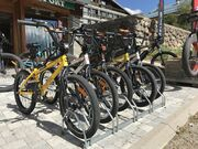 Electrically assisted mountain bikes rental.