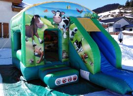 Inflatable bouncer chalet