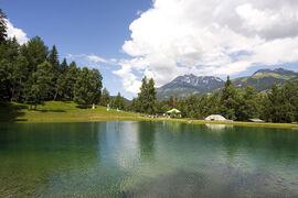 Fishing in the lake les Avenières