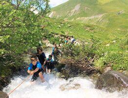River hiking