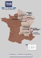 Start of the last stage of the Tour de l'Avenir 2021