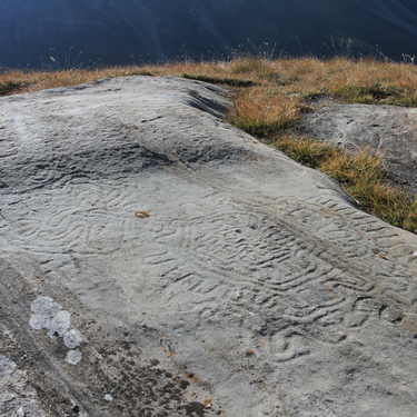 Archaeological day hike - The Arcelle rock engravings